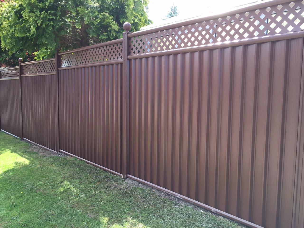 secure Colourfence garden fence