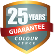 ColourFence: Metal Garden Fencing 25-year Guarantee Badge