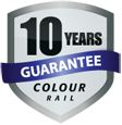 ColourRail: Metal Garden Railing 10-year Guarantee Badge