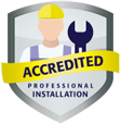 Professionally Accredited Installer Badge