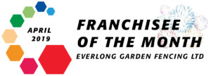 Garden fencing install of the month in April