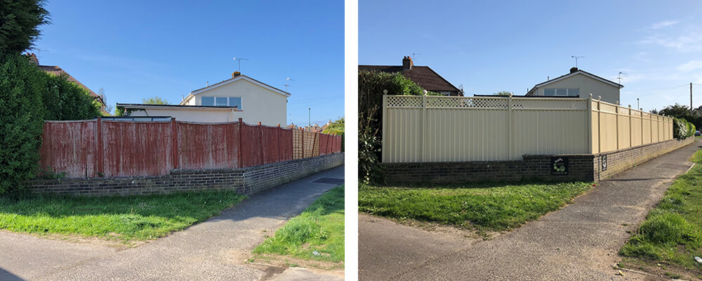 ColourFence Bognor Regis Before and after