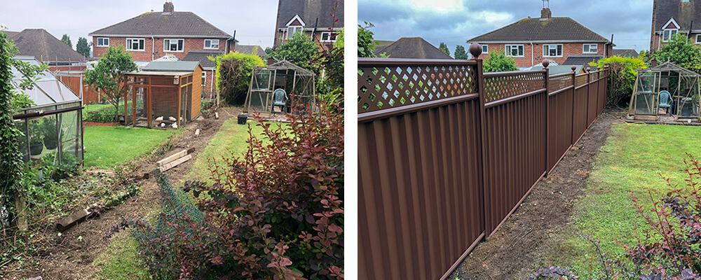 ColourFence Dudley Before and after