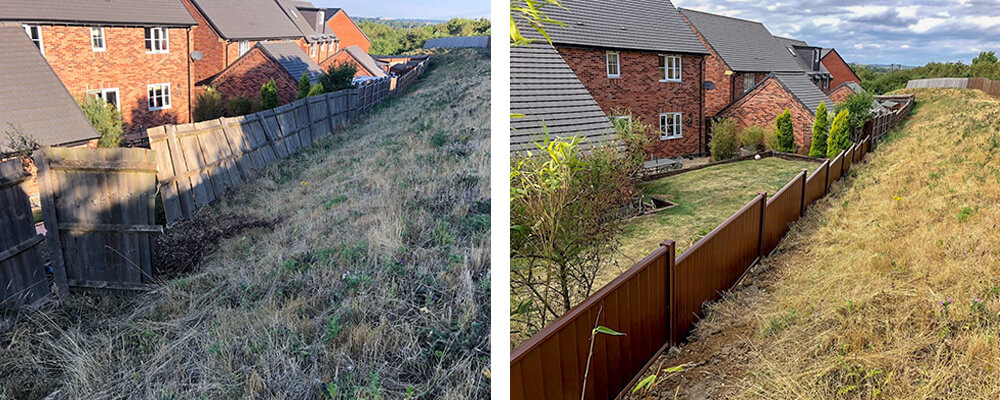 ColourFence Harborough Before and after