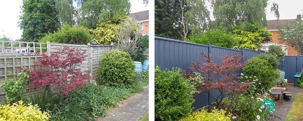 ColourFence Hereford and Worcester Before and after