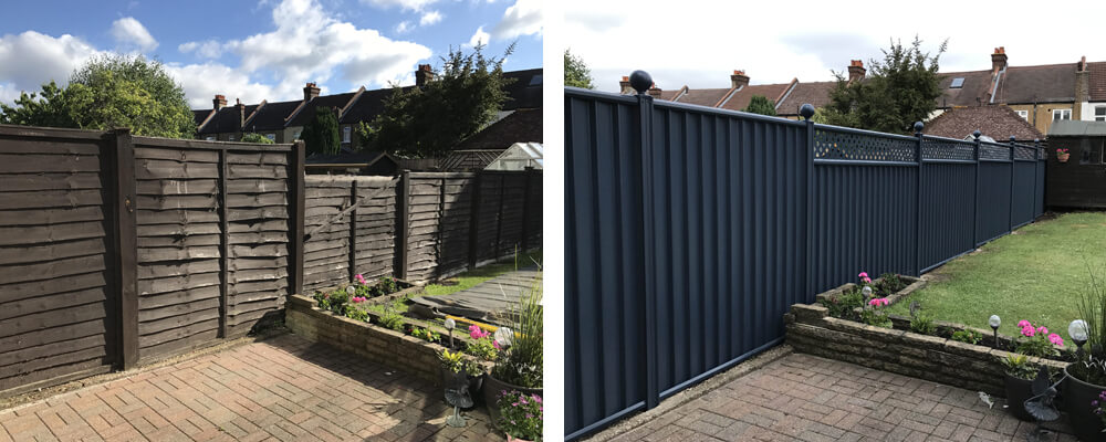 ColourFence Redhill Before and after