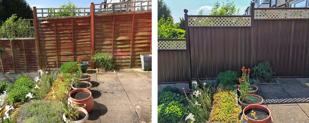 ColourFence Solihull Before and after