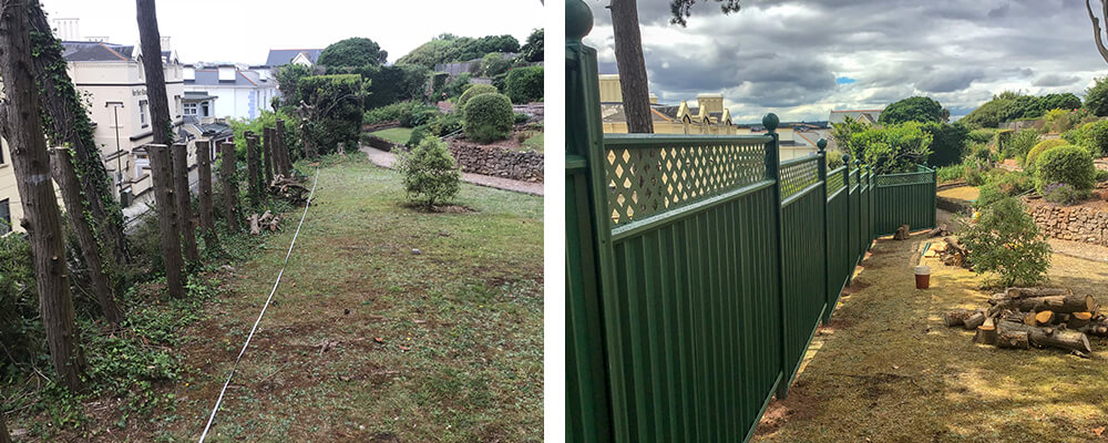 ColourFence Torquay Before and after