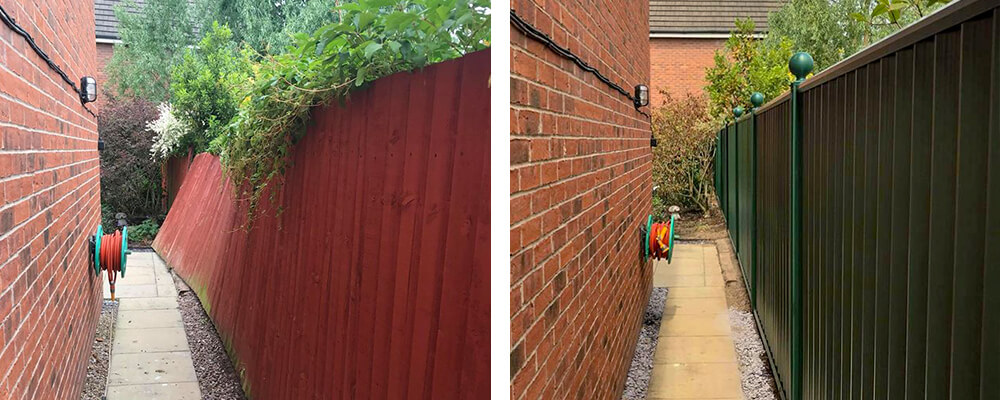 ColourFence Warrington Before and after