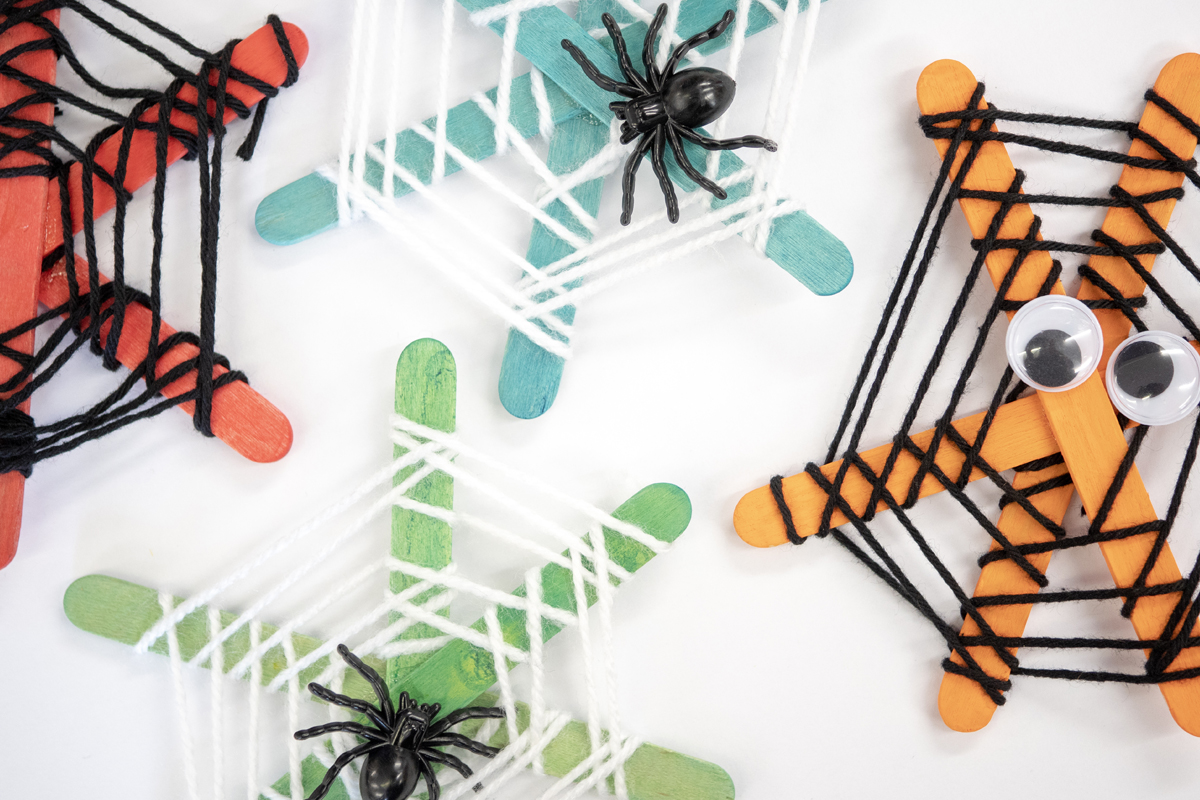 Make your own Wooden Webs for Halloween!