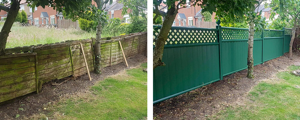ColourFence Teesside Before and after