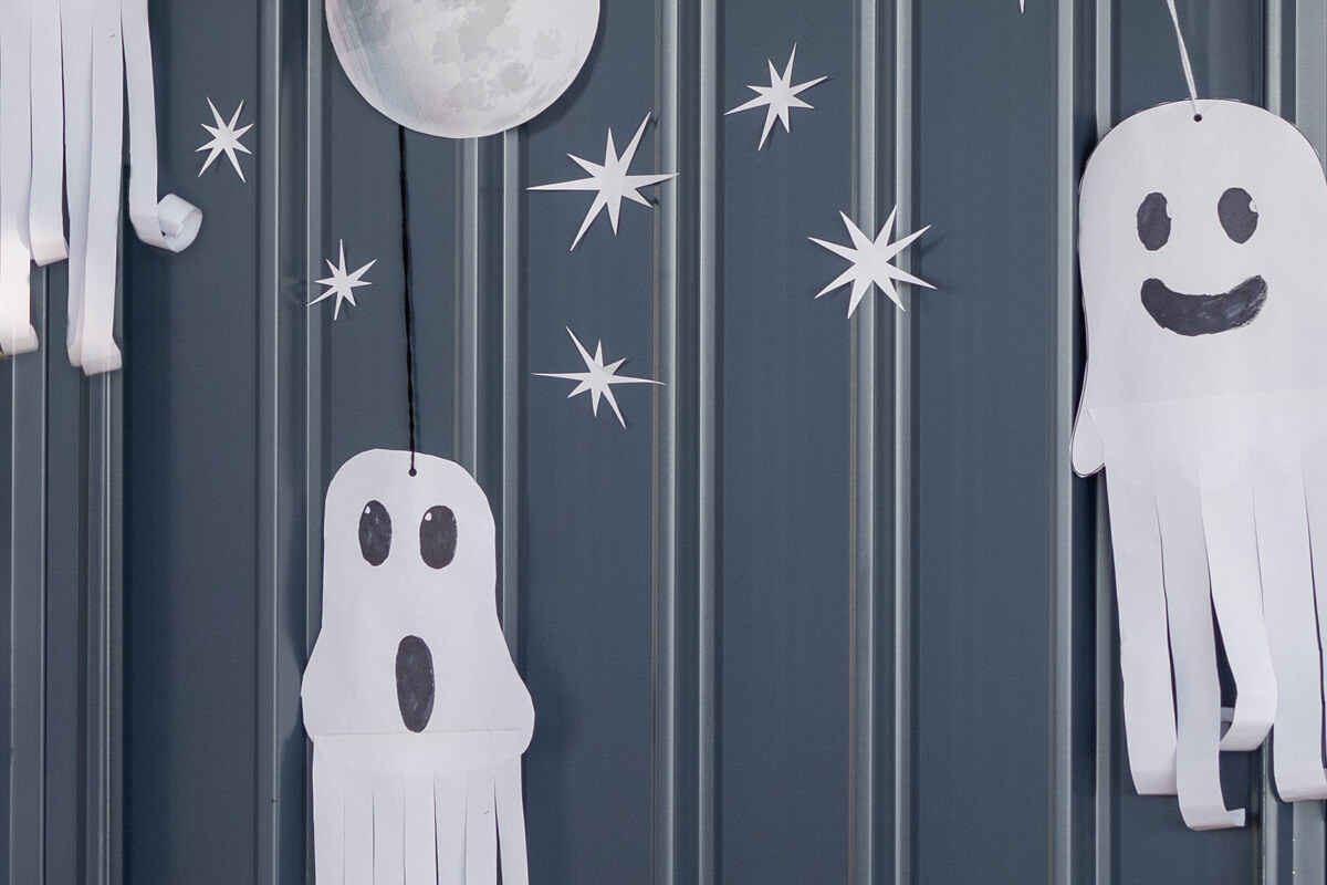 Make a spooky hanging ghost!