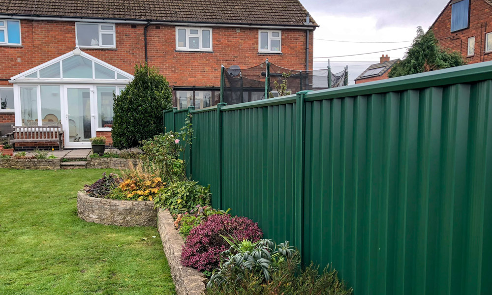 Low Maintenance Metal Garden Fencing Colourfence