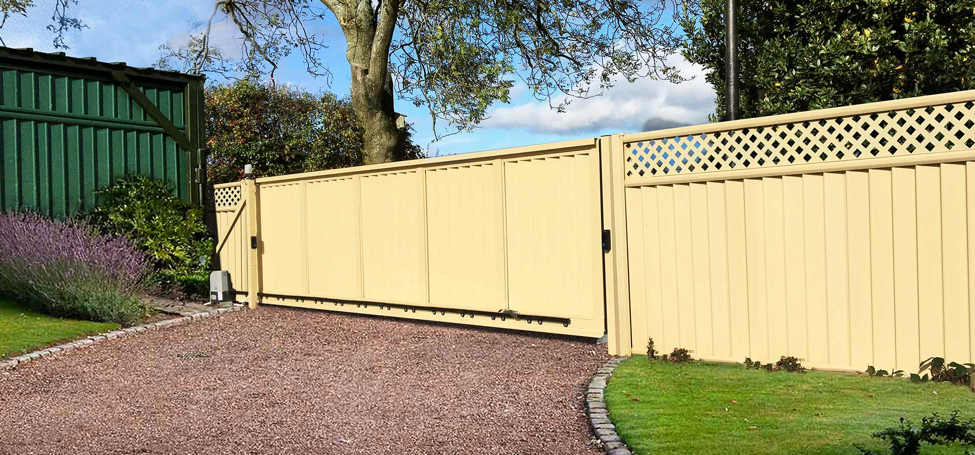 ColourFence: Metal Garden Fencing. ColourRail: Metal Garden Railing. ColourGate: Metal Garden Gates.