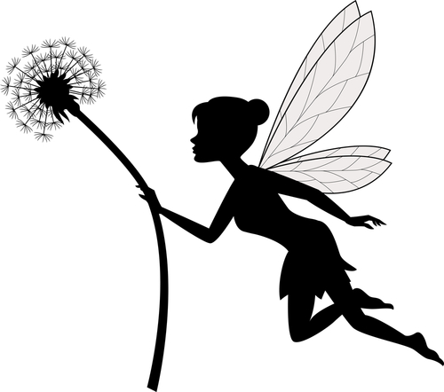 fairy in the garden with flower
